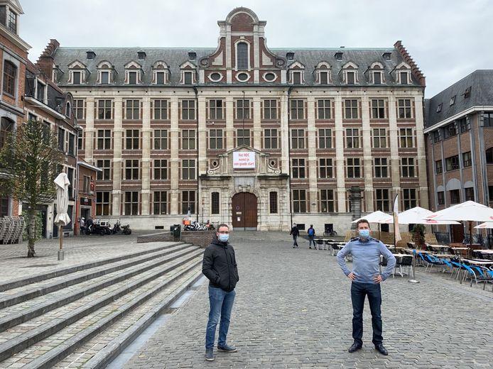 David Dierick en Koen Vandecruys van Jong CD&V willen hulp zoeken voor het onderwijs in de horeca- en eventsector.