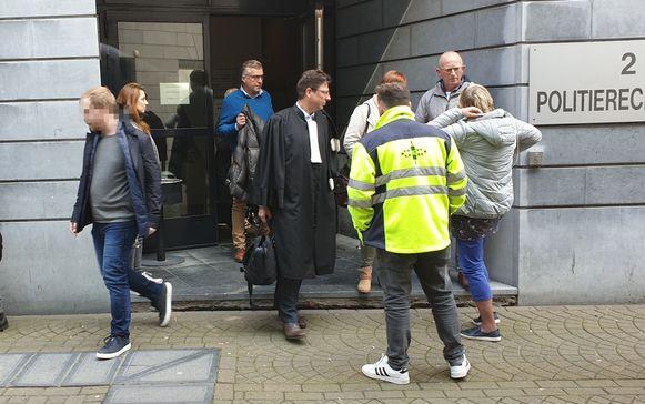 Archieffoto: Stijn S. (links) verlaat de politierechtbank