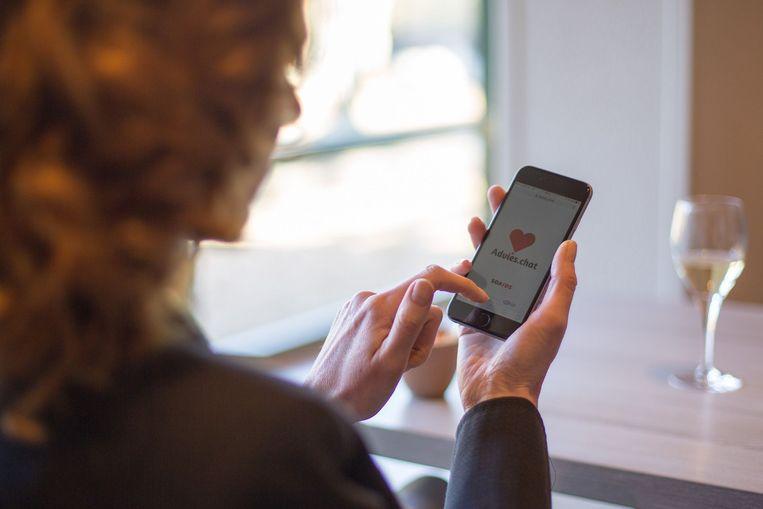 De nieuwe online testwijzer 'Advies.Chat'. FOTO JORD VISSER Beeld TRBEELD