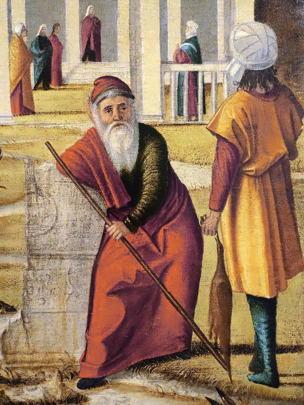 Detail uit De Visitatie van Carpaccio. Beeld