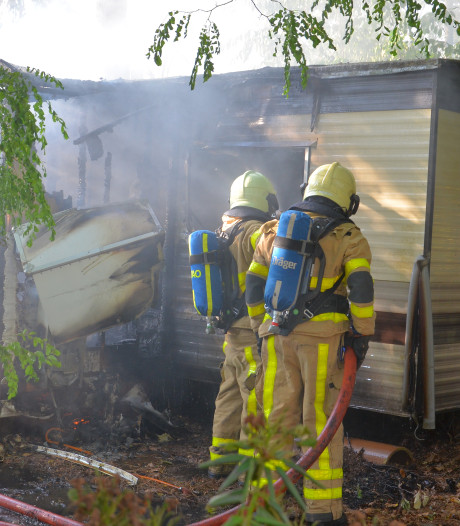 Stacaravan door brand verwoest in Ruurlo