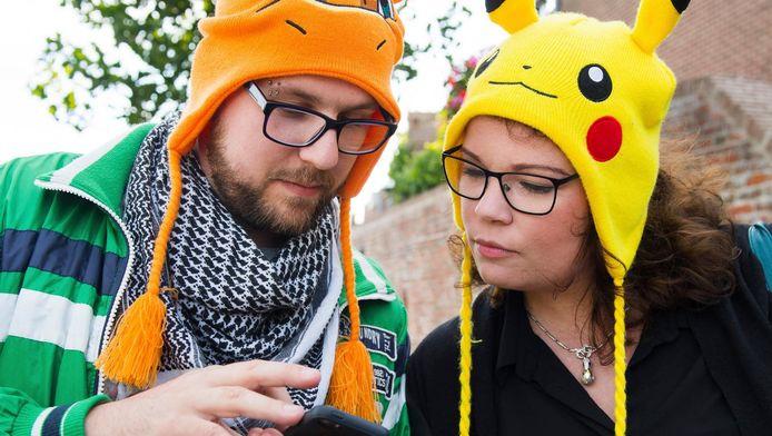Pokémon Go-spelers in Leerdam.