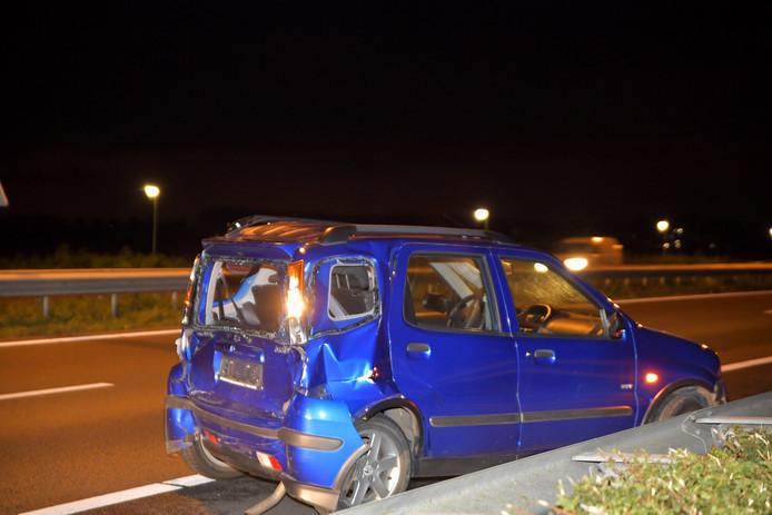 De voorste auto die betrokken was bij het ongeluk.