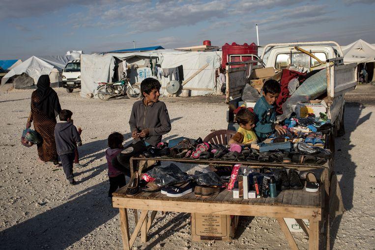 Kinderen in een vluchtelingenkamp in Syrië.