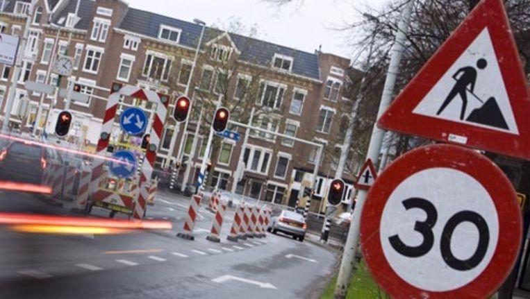 Kamer van Koophandel: ''Het centrum is niet bedoeld voor doorgaand verkeer. Bereikbaarheid staat voorop, en dat kan best met dertig kilometer.'' Foto ANP Beeld