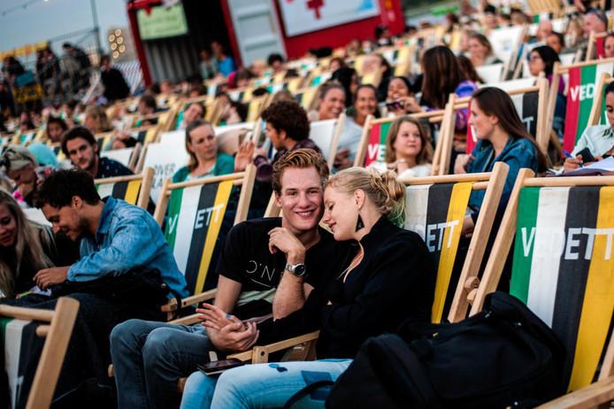 Een indruk van een openluchtbioscoop van Pluk de Nacht, hier tijdens een filmfestival in Utrecht.