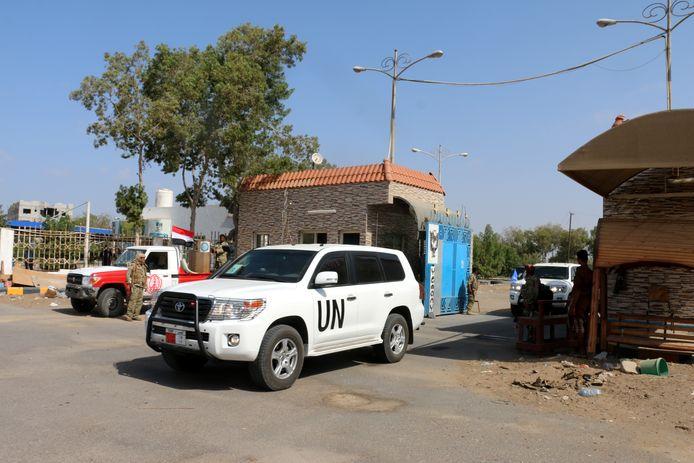 Een VN-konvooi in Jemen.