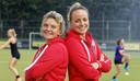 Maartje Paumen en Ageeth Boomgaardt coaches MOP dames 1 Vught.