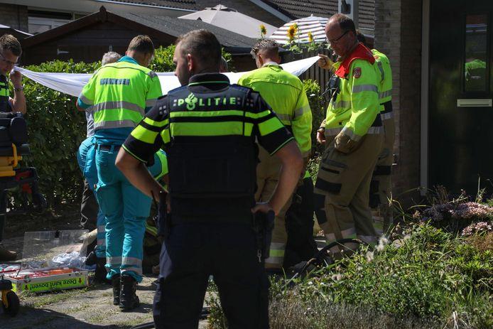 Man gewond bij brand in Maren-Kessel.