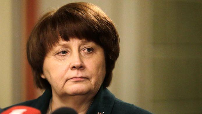 Le Premier ministre letton, Mme Laimdota Straujuma