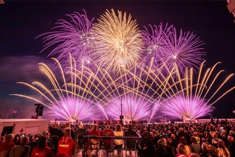 Italië won het Internationaal Vuurwerkfestival in Knokke.