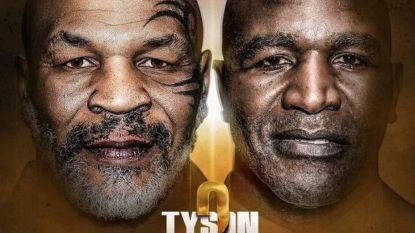 Is vervolg op 'Bite Fight' een feit? Volgens affiche bekampen Tyson en Holyfield  elkaar op 11 juli in Saudi-Arabië, dat pak geld op tafel zou leggen