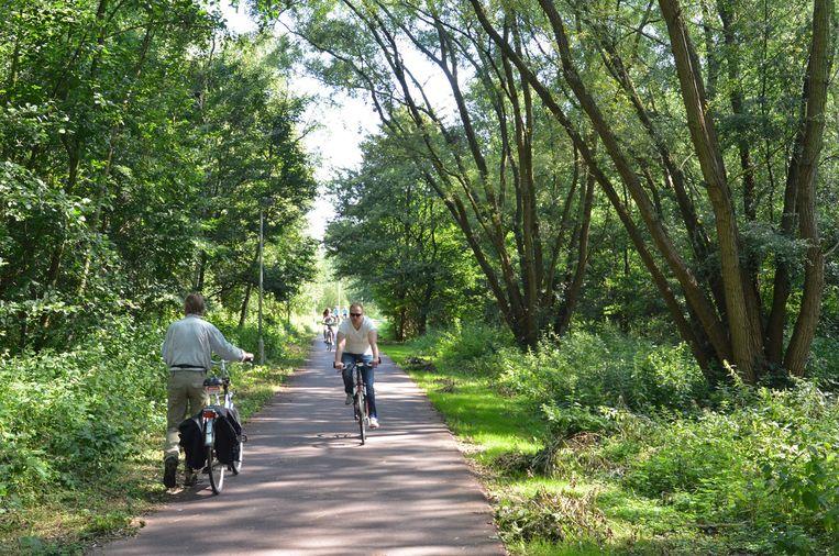 Duizenden mensen rijden dagelijks over het Ringfietspad door een stukje natuurgebied, langs de Brilschans.