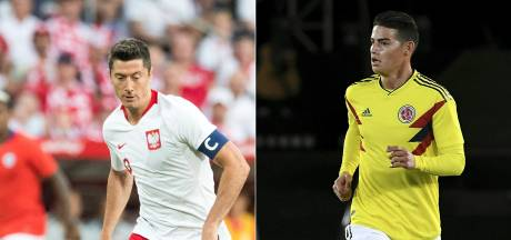 Bayern-clash in Kazan tussen Lewandowski en James