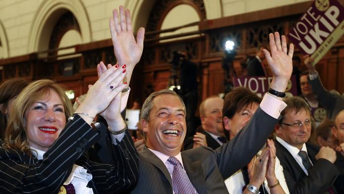 Nigel Farage, leader de l'Ukip, parti britannique hostile envers l'Union européenne