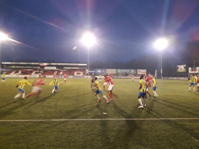 RKC Waalwijk bij de wedstrijd in Veenendaal tegen DOVO.