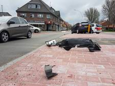Botsing tussen twee auto's in Hengelo