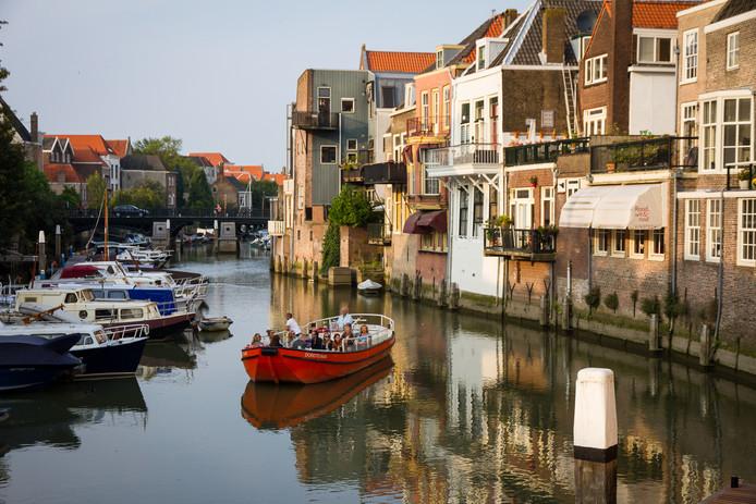 De havens van Dordrecht, populair onder toeristen.