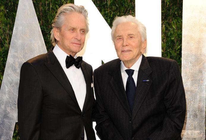 Kirk Douglas et son fils Michael.