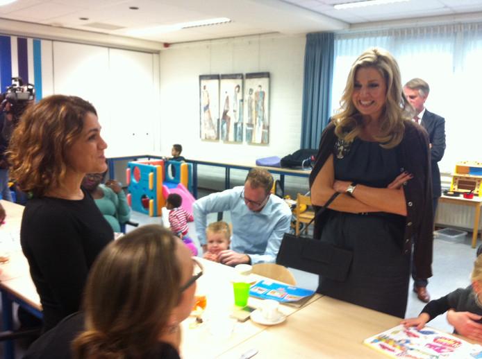Koningin Máxima bezoekt De Pracht in Aalst