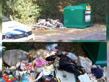 Politie 'ontsteld' over afvaldump in kledingcontainer Swifterbant