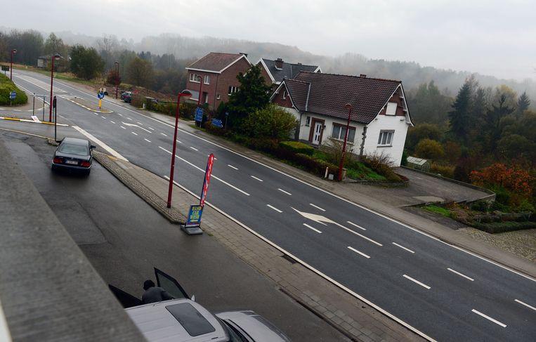 De Borremansstraat in nabij het centrum van Huldenberg
