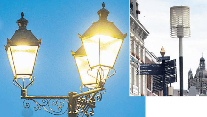 Nieuwe en oude verlichting op de Markt van Den Bosch