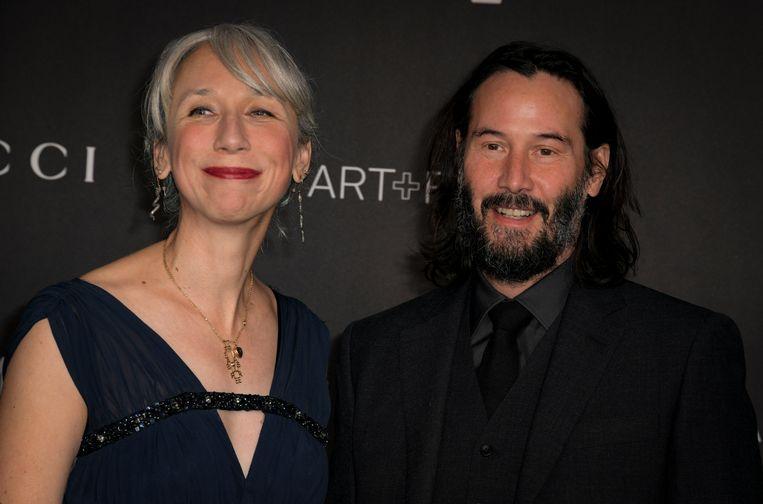 Keanu Reeves en Alexandra Grant op de rode loper