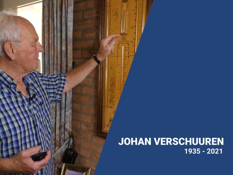 Brabants bekendste weerman Johan Verschuuren (85) overleden
