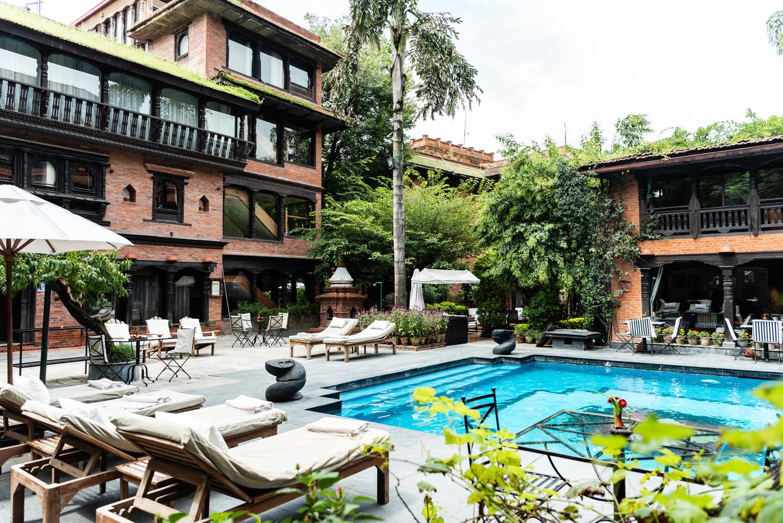 Dwarika's Hotel, Kathmandu, Nepal. Beeld Katja Poelwijk