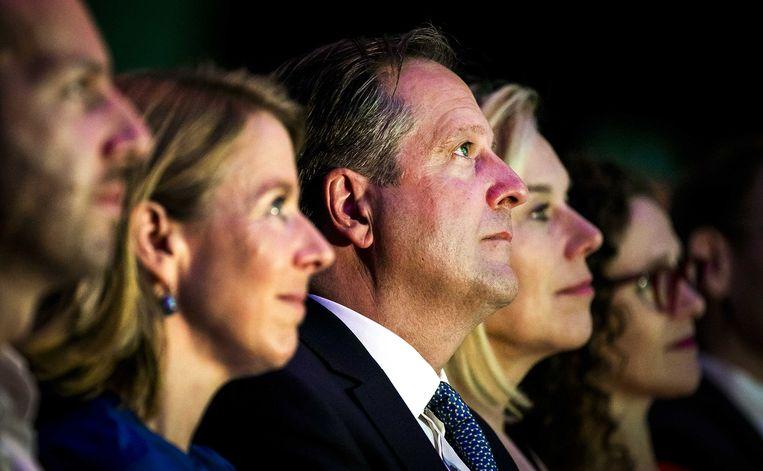 D66-leider Alexander Pechtold tijdens het najaarscongres van de partij in Den Bosch, voordat hij zijn aftreden bekendmaakte.  Beeld ANP