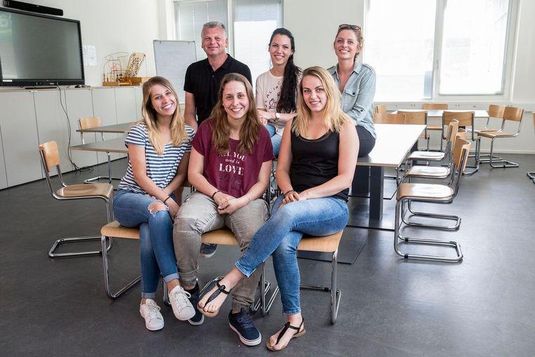 Studenten van de Thomas More Hogeschool in Rotterdam. Beeld Arie Kievit