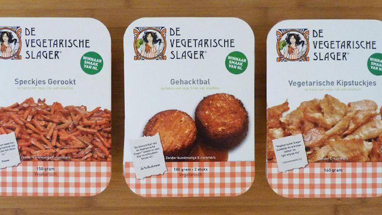 Producten van de vegetarische slager Beeld Vegetarische Slager
