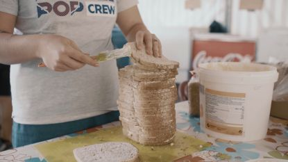 """""""Wij smeren 170 boterhammen per dag volgens draaiboek"""""""
