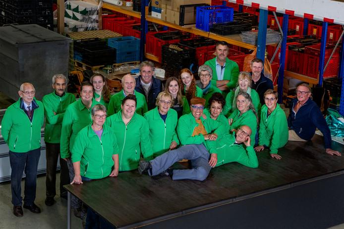 Vrijwilligers van de Voedselbank Ede.