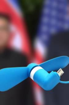'Virusventilatortje' zorgt voor opwinding tijdens top Trump en Kim
