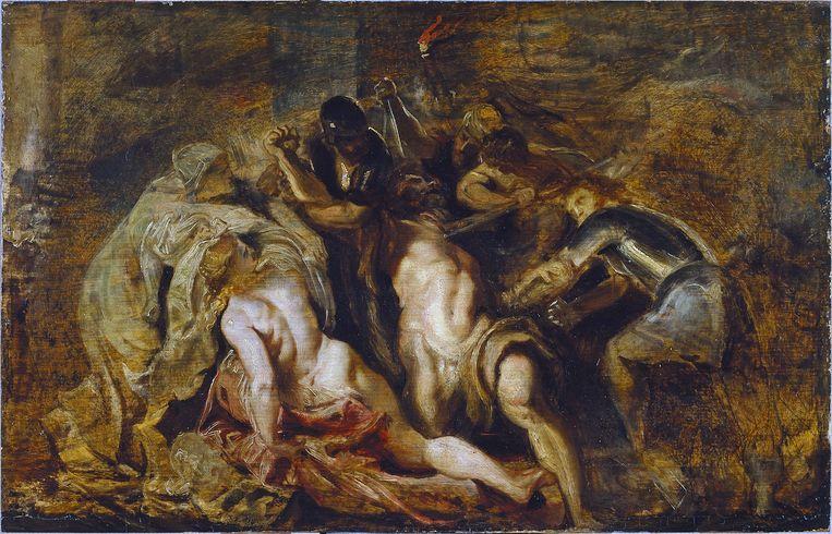 Peter Paul Rubens: De blindmaking van Simson, ca. 1609-1610. Beeld Madrid Museo Thyssen-Bornemisza