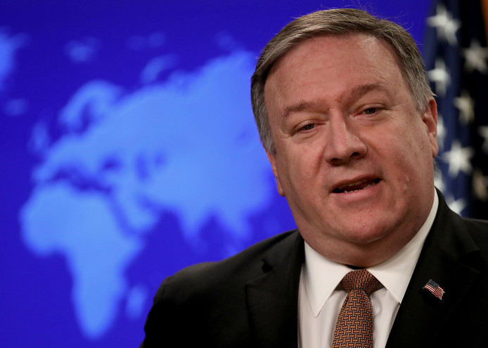 Buitenlandminister Mike Pompeo.
