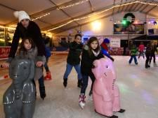 Een echte ijsbaan op Kasteelterrein IJsselstein