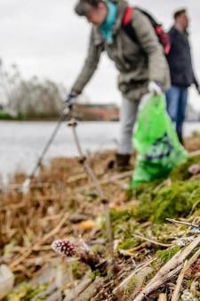 1.500 kilo zwerfafval langs de Rijn opgeruimd