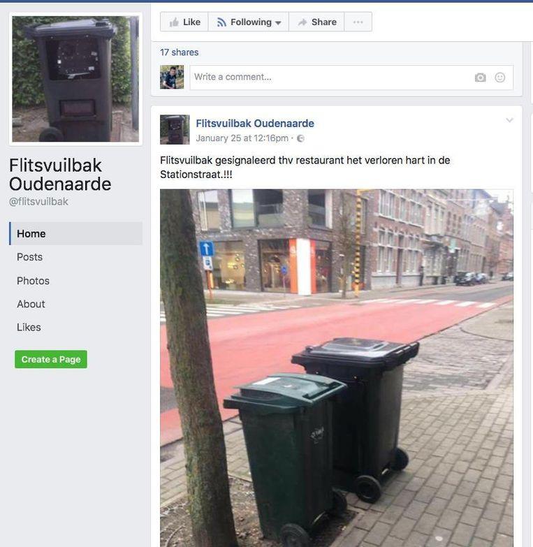 We zijn het niet zeker, maar we vermoeden dat een afvalcontainer nooit populairder was op de sociale media.