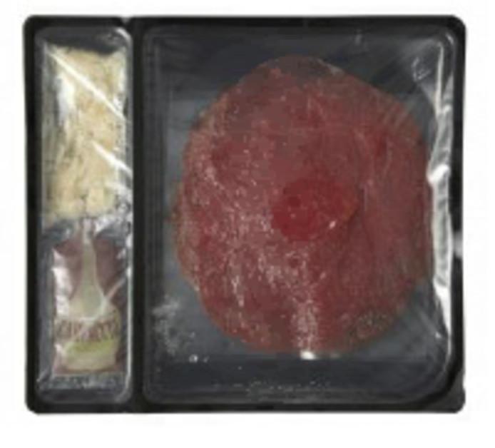 De verpakking van Hoogvliet waar de bacterie in is gevonden.