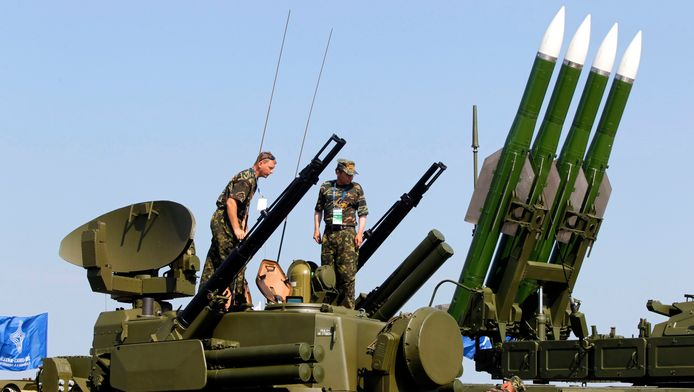 Een Russisch Buk-M2-raketsysteem op archiefbeeld.