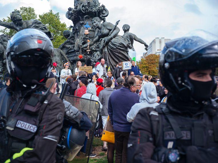 Protest in Parijs. Beeld AP