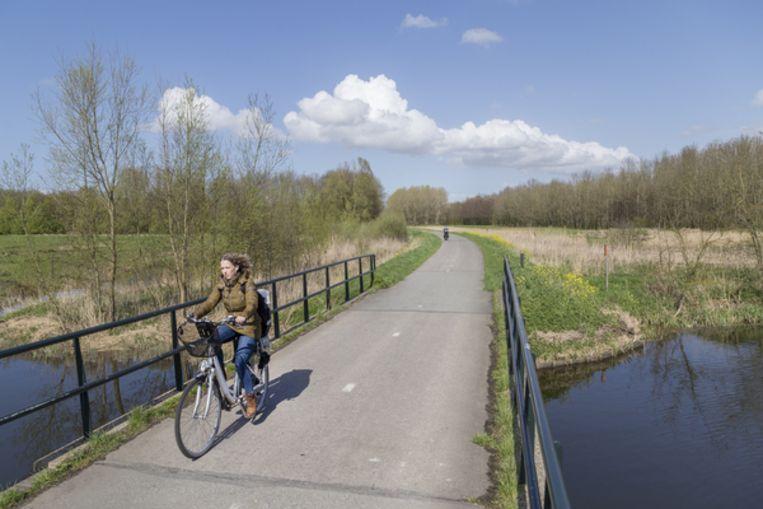 Een snelfietspad tussen Spijkenisse en Hellevoetsluis  Beeld Pauline Niks