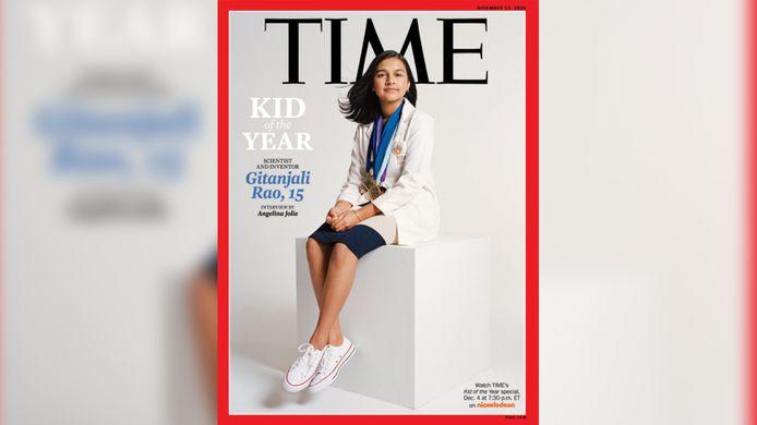 """Gitanjali Rao, 15 ans, a été désignée """"Enfant de l'année"""" par The Time."""