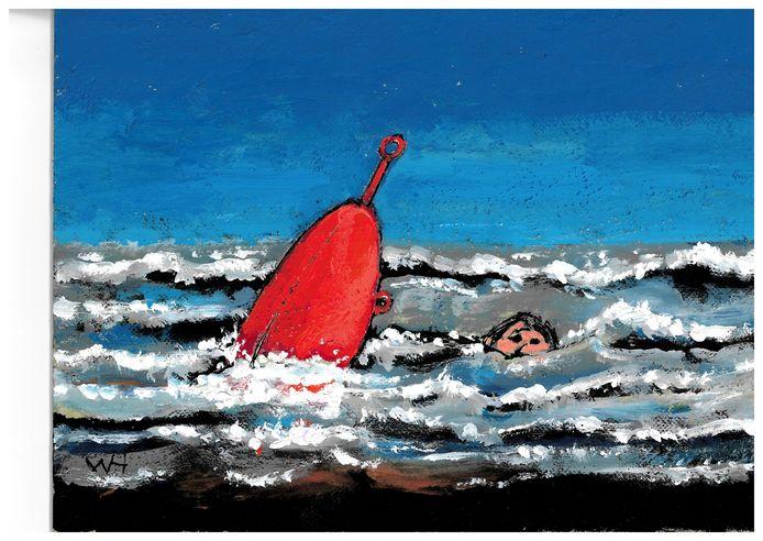 Wim Hofman illustratie bij Over het zich ontdoen van vlooien