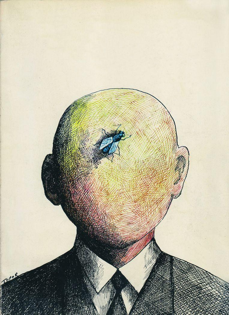 Roland Topor, Tu es vraiment Crétin, Samuel, 1969. Beeld Pictoright A'dam