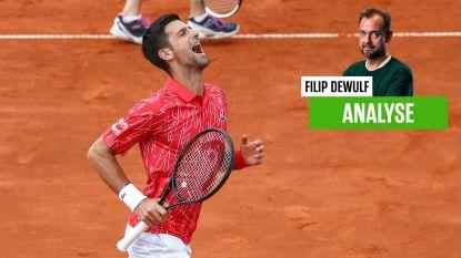"""Onze tennisspecialist Filip Dewulf over Djokovic: """"Je vraagt je af of hij niet de wereldkampioen 'eigen ruiten ingooien' is geworden"""""""