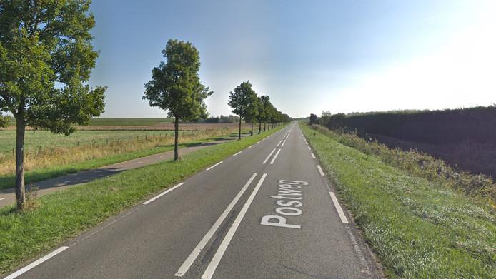 Dit gedeelte van de Postweg wordt vernieuwd.